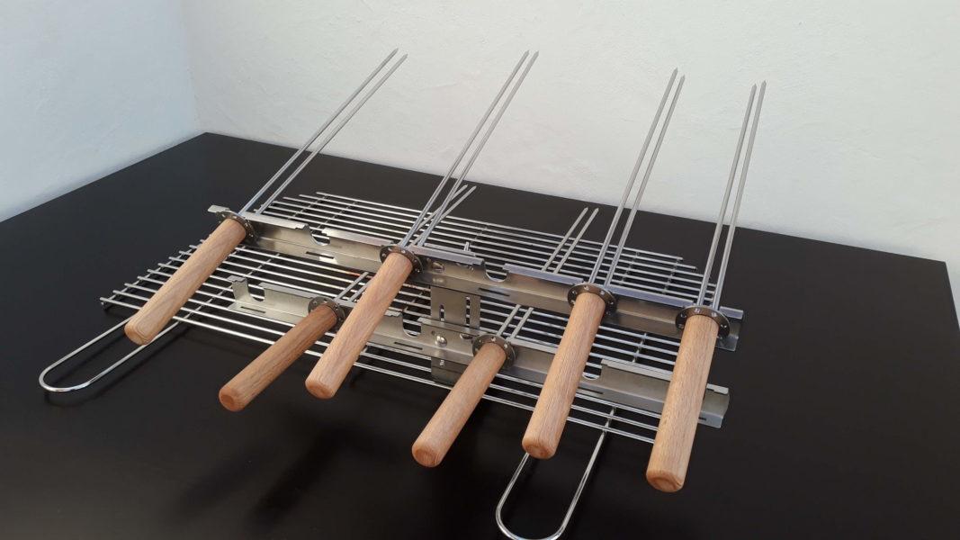 Grill Gilley Steckerlfischsystem 6fach 2