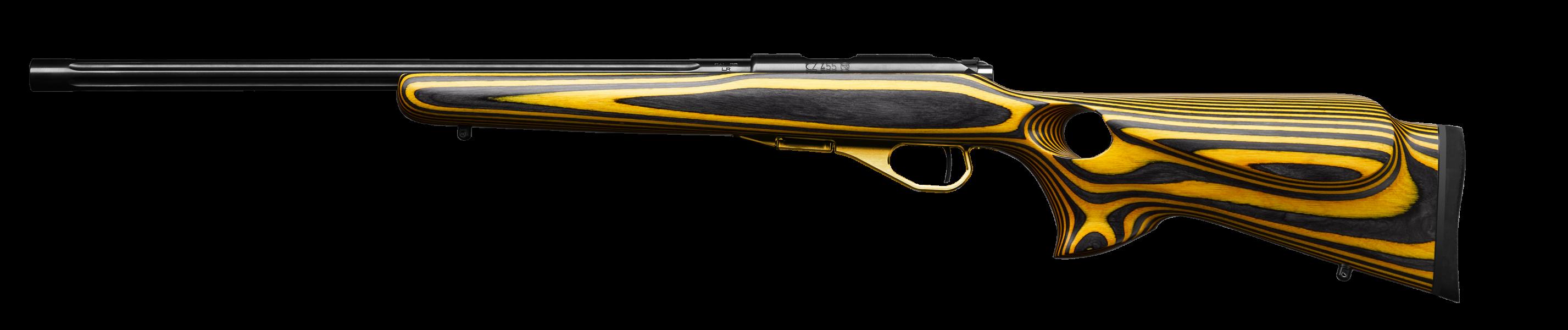 Cz 455 thumbhole yellow left
