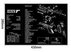 Glock Pistole Reinigung Gummi Matte