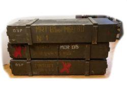Militär - Waffen - Granatwerfer- KISTE (ohne Inhalt)