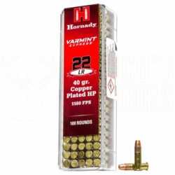 Hornady 22l.r. 40gr/2,6g HP Copper Plated