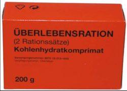 BW ÜBERLEBENSRATION, 1 PACK 200 G, (4 RIEGEL)