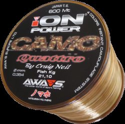 AWA'S, Camo Quattro, Mono Angelschnur, 600m