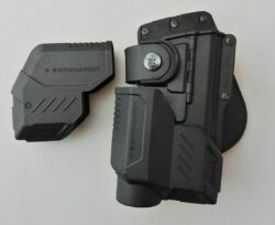 FOBUS RBT17G Bundle Outside The Waistband Holster for Glock 17, 22, 31 tactical holster + Flashlight & Laser protection units