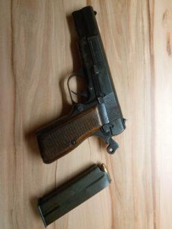 Browning FN Gendarmerie Pistole mit orig.Lederholster