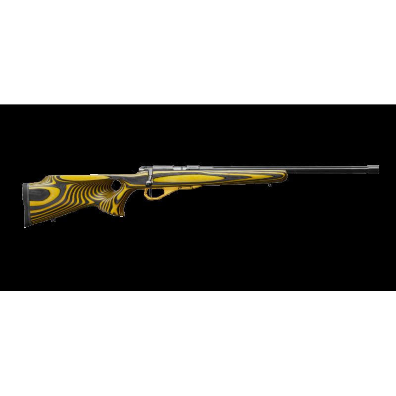 """CZ 455 Varmint Thumbhole Yellow .22lr 1/2""""x20 UNEF"""